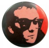 Elvis Costello - 'Red' Button Badge